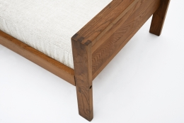 """Pierre Chapo's """"L06A"""" daybed detail view of arm"""