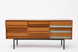 Bernard Marange's sideboard, full front view with some drawers open