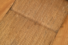 Henry Jacques Le Même's Set of 4 chairs, detailed view of seat wicker