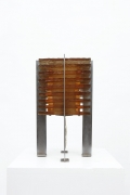 French 1960's table lamp front straight view/ vertical photo