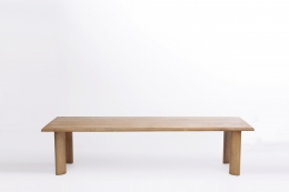 Charlotte Perriand's dining table, full straight view from above