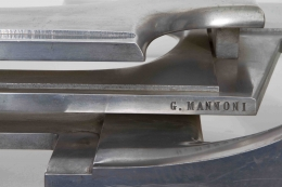 Gérard Mannoni's sculptural coffee table detailed view of signature