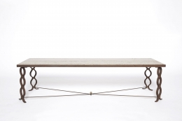 """Jean Royère's """"Ruban"""" coffee table, full straight view from above"""