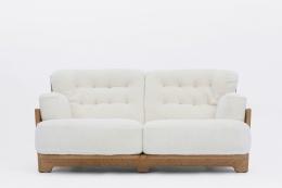 "Guillerme et Chambron's ""Denis"" sofa front view"