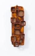 Juliette Derel's ceramic sconce full straight view