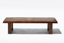 "Pierre Chapo's ""T08"" coffee table (special commission), full straight view"