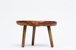 Juliette Derel's ceramic coffee table straight eye-level view