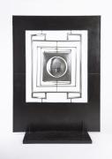 "Alain Douillard's ""Miroir aux Alouettes"" sculptural screen full view"