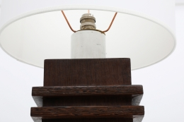 Jacques Adnet's table lamp, detailed view of top