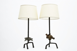 Paul de Ghellinck's pair of table lamps straight view