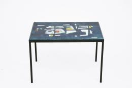 Jean Amado's ceramic coffee table upper view