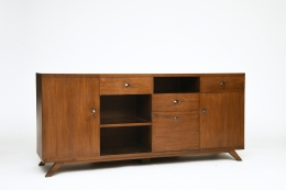 Pierre Jeanneret's sideboard, full front diagonal view