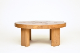 Maison Regain's coffee table, full straight view eye-level