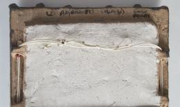 Les Argonautes' mirror detailed view of signature on back