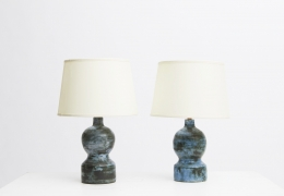Jacques Blin pair of table lamps straight view