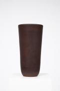 Suzanne Ramie (Madoura) ceramic brown vase straight view