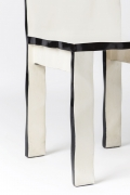 Howard Meister designer chair, detailed view of seat and legs
