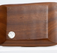 Alexandre Noll's mahogany bowl, view of signature underneath