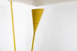 Michel Buffet's yellow floor lamp, detailed image of top