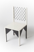 """Paul Ludick's """"Apartheid"""" chair, full diagonal view from above"""