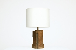 Pierre Sabatier's pair of table lamps, view of one