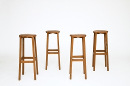Unknown Artist's set of 4 stools, staggered view of all stools