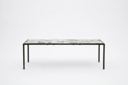 Mado Jolain's ceramic coffee table straight front view