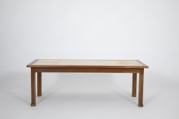 Jacques Adnet's coffee table, full straight view