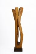 Paul de Ghellinck's wooden sculpture straight view three