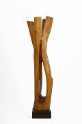 Paul de Ghellinck's wooden sculpture straight view three