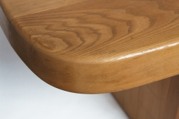 """Pierre Chapo's """"T20A"""" dining table detailed view of table top"""