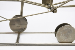 François Colette's kinetic sculpture detailed view of signature
