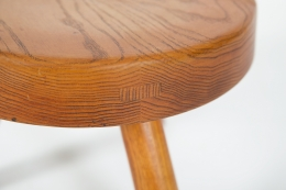 Charlotte Perriand's low stool, detailed view