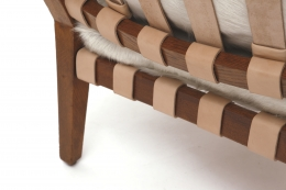 Jacques Adnet's armchair leg and back details