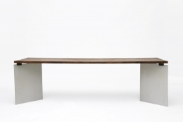 """Jean Paul Barray's """"Hommage à Le Corbusier - Chandigarh"""" table straight view"""
