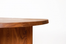 """Pierre Chapo's """"TGV"""" dining table, detailed view of edge"""