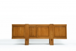 "Pierre Chapo's ""R16"" sideboard straight view with all doors closed"