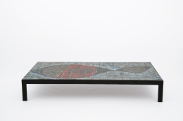 Baty's ceramic coffee table, full straight view