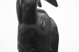 Roger Capron's ceramic mask detail of top of mask