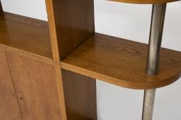 Jean Royère's bookshelf, detailed view of shelves