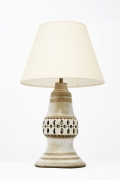 Georges Pelletier's ceramic table lamp, full front view