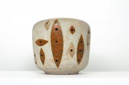 André Borderie's ceramic planter front view