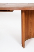 """Pierre Chapo's """"TGV"""" dining table, detailed view of leg and table top"""