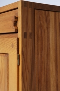 """Pierre Chapo's """"R07"""" sideboard, detailed view of side and corner"""