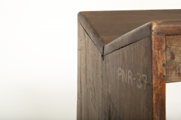 Pierre Jeanneret's stool, detailed view