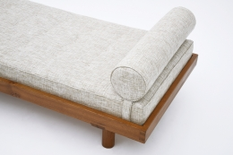 """Pierre Chapo's """"L01E' daybed detail view of pillow and upholstery"""