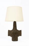 Vallauris' ceramic table lamp, full front view