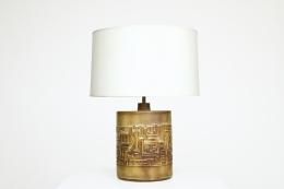 Marius Bessone's ceramic table lamp, full straight view