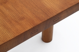 "Charlotte Perriand's Coffee table, "" Equipement de la maison et B.C.B."" edition, detailed view of top and side"
