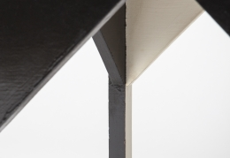 """Paul Ludick's """"Apartheid"""" chair, detailed view of bottom of chair"""